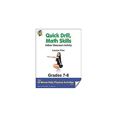 On The Mark Press Quick Drill, Math Skills Lesson Plan Physical Education Workbook, Grade 7 - Grade 8 [eBook]