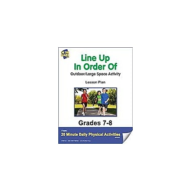 On The Mark Press Line Up In Order of Lesson Plan Physical Education Workbook, Grade 7 - Grade 8 [eBook]