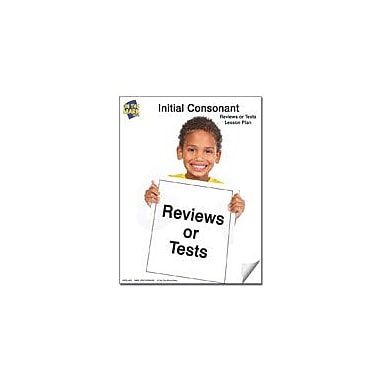 On The Mark Press Tests for Initial Consonants: Kindergarten Reading & Writing Workbook, Kindergarten - Grade 1 [eBook]