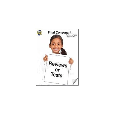 On The Mark Press Tests for Final Consonants Reading & Writing Workbook, Kindergarten - Grade 1 [eBook]