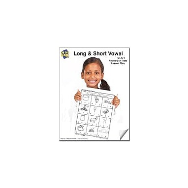 On The Mark Press Long and Short Vowel Reviews Or Tests K-1 Reading & Writing Workbook, Kindergarten - Grade 1 [eBook]