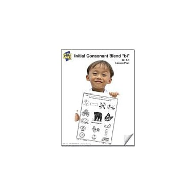 On The Mark Press Bl Initial Consonant Blend Lesson Plan K-1 Reading & Writing Workbook, Kindergarten - Grade 1 [eBook]