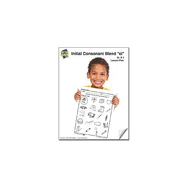 On The Mark Press Cl Initial Consonant Blend Lesson Plan K-1 Reading & Writing Workbook, Kindergarten - Grade 1 [eBook]