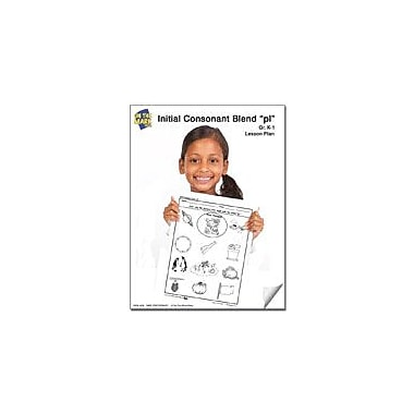 On The Mark Press Pl Initial Consonant Blend Lesson Plan K-1 Reading & Writing Workbook, Kindergarten - Grade 1 [eBook]