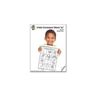 On The Mark Press Sl Initial Consonant Blend Lesson Plan K-1 Reading & Writing Workbook, Kindergarten - Grade 1 [eBook]