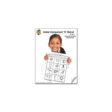On The Mark Press L Blend Reviews Or Tests K-1 Reading & Writing Workbook, Kindergarten - Grade 1 [eBook]