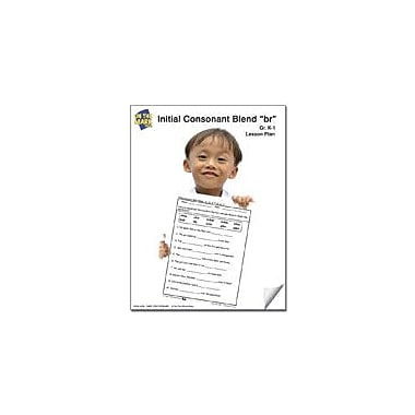 On The Mark Press Br Initial Consonant Blend Lesson Plan K-1 Reading & Writing Workbook, Kindergarten - Grade 1 [eBook]