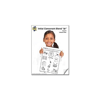On The Mark Press Dr Initial Consonant Blend Lesson Plan K-1 Reading & Writing Workbook, Kindergarten - Grade 1 [eBook]
