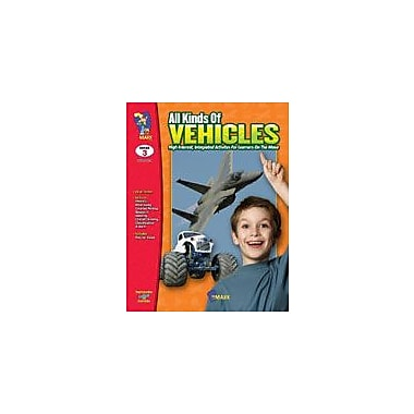 On The Mark Press All Kinds of Vehicles Reading & Writing Workbook, Grade 3 [eBook]