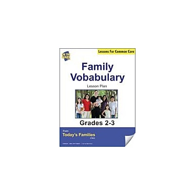 On The Mark Press Family Vocabulary Gr. 2-3 Aligned to Common Core E-Lesson Plan Workbook, Grade 2 - Grade 3 [eBook]