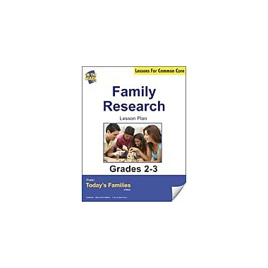 On The Mark Press Family Research Gr. 2-3 Aligned to Common Core E-Lesson Plan Language Arts Workbook, Grade 2 - Grade 3 [eBook]