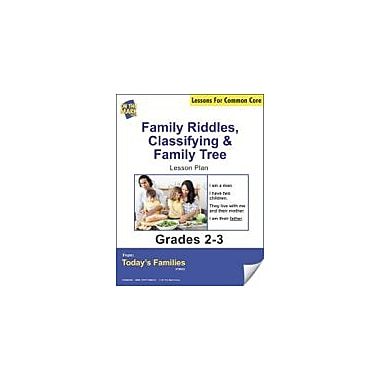 On The Mark Press Family Riddles, Classifying, Family Tree Gr. 2-3 Aligned to Common Core E-Lesson Plan Workbook [eBook]