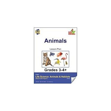 On The Mark Press Life Science Animals & Habitats, Animals E-Lesson Plan Science Workbook, Grade 3 - Grade 4 [eBook]