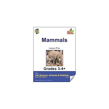 On The Mark Press Life Science Animals & Habitats, Mammals E-Lesson Plan & Reading Folder Workbook, Grade 3 - Grade 4 [eBook]