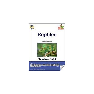 On The Mark Press Life Science Animals & Habitats, Reptiles E-Lesson Plan & Reading Folder Workbook, Grade 3 - Grade 4 [eBook]
