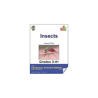On The Mark Press Life Science Animals & Habitats, Insects & Spiders E-Lesson Plan & Reading Folder Workbook [eBook]