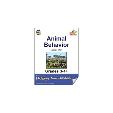 On The Mark Press Life Science Animals & Habitats, Animal Behavior E-Lesson Plan Science Workbook, Grade 3 - Grade 4 [eBook]
