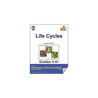 On The Mark Press Life Science Animals & Habitats, Life Cycles E-Lesson Plan Science Workbook, Grade 3 - Grade 4 [eBook]