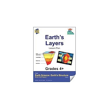 On The Mark Press Earth Science, Earth's Layers E-Lesson Plan Science Workbook, Grade 4 - Grade 6 [eBook]
