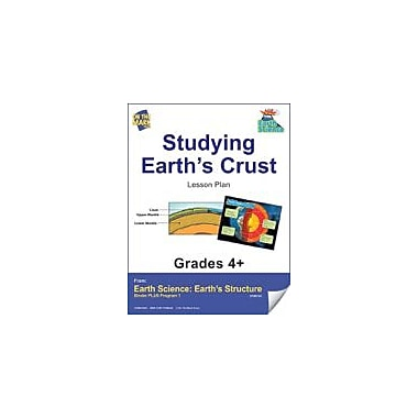 On The Mark Press Earth Science, Studying Earth's Crust E-Lesson Plan Science Workbook, Grade 4 - Grade 6 [eBook]