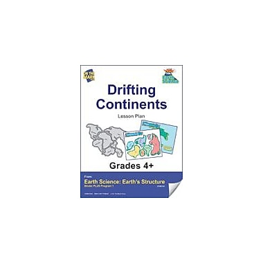 On The Mark Press Earth Science, Drifting Continents E-Lesson Plan Science Workbook, Grade 4 - Grade 6 [eBook]