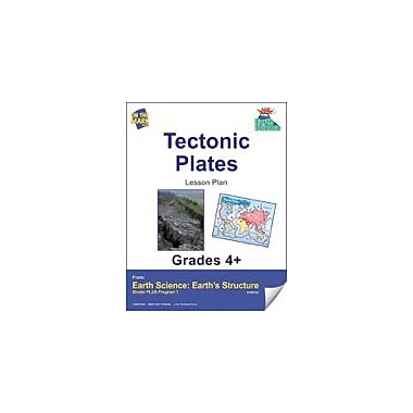 On The Mark Press Earth Science, Tectonic Plates E-Lesson Plan Science Workbook, Grade 4 - Grade 6 [eBook]