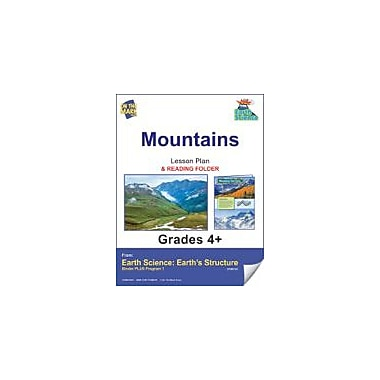 On The Mark Press Earth Science, Mountains E-Lesson Plan & Reading Folder Science Workbook, Grade 4 - Grade 6 [eBook]