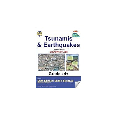 On The Mark Press Earth Science, Tsunamis & Earthquakes E-Lesson Plan & Reading Folder Workbook, Grade 4 - Grade 6 [eBook]