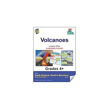 On The Mark Press Earth Science, Volcanoes E-Lesson Plan & Reading Folder Science Workbook, Grade 4 - Grade 6 [eBook]