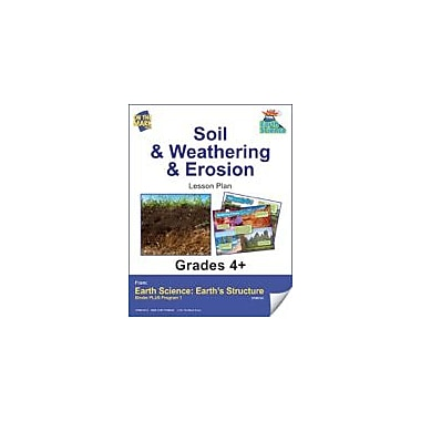 On The Mark Press Earth Science, Soil & Weathering & Erosion E-Lesson Plan Science Workbook, Grade 4 - Grade 6 [eBook]