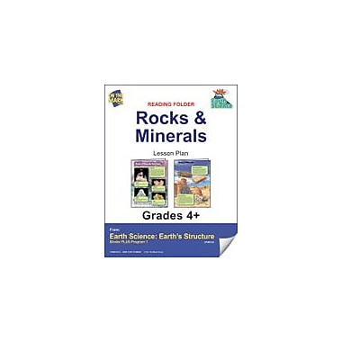 On The Mark Press Earth Science, Reading Folder, Rock & Minerals Science Workbook, Grade 4 - Grade 6 [eBook]
