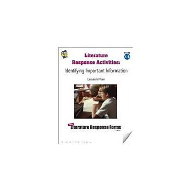 On The Mark Press Literature Response Activities: Identifying Important Information Grades 4-6 Workbook [eBook]