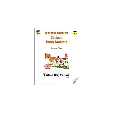On The Mark Press Animal Stories Cartoon Story Starters Grades 1-3 Language Arts Workbook, Grade 1 - Grade 3 [eBook]