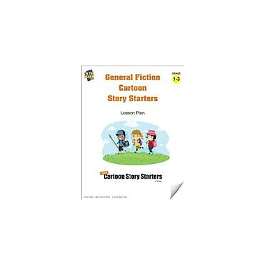 On The Mark Press General Fiction Cartoon Story Starters Grades 1-3 Language Arts Workbook, Grade 1 - Grade 3 [eBook]