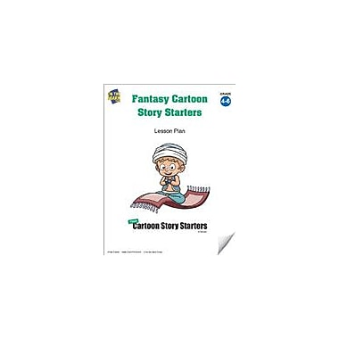 On The Mark Press Fantasy Cartoon Story Starters Grades 4-6 Language Arts Workbook, Grade 4 - Grade 6 [eBook]