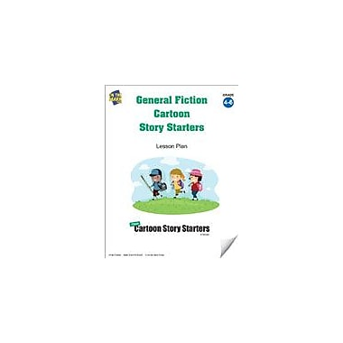 On The Mark Press General Fiction Cartoon Story Starters Grades 4-6 Language Arts Workbook, Grade 4 - Grade 6 [eBook]