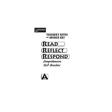 Saddleback Educational Publishing Read Reflect Respond A Teacher Notes and Answer Key Workbook, Grade 5 - Grade 12 [eBook]
