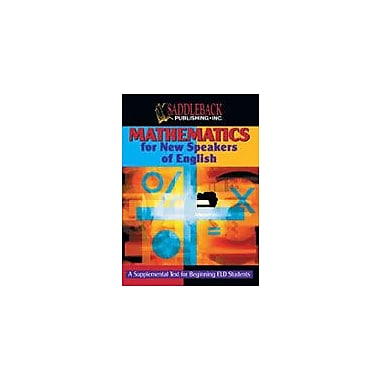 Saddleback Educational Publishing Mathematics For New Speakers of English Workbook, Grade 5 - Grade 12 [Enhanced eBook]