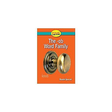 Shell Education Word Families: the -Ob Word Family Language Arts Workbook, Kindergarten [Enhanced eBook]