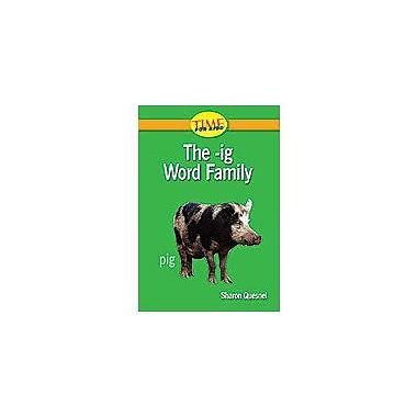 Shell Education Word Families: the -Ig Word Family Language Arts Workbook, Kindergarten [Enhanced eBook]