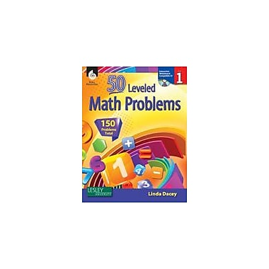 Shell Education 50 Leveled Math Problems: Level 1 Workbook, Grade 1 [eBook]