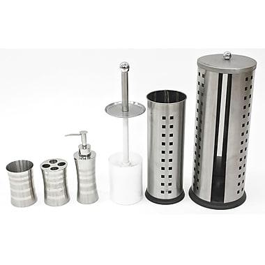 Cathay Importers - Ensemble 5 pièces pour salle de bain en acier inoxydable