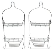 Cathay Importers 2-Piece Stainless Steel Shower Caddy