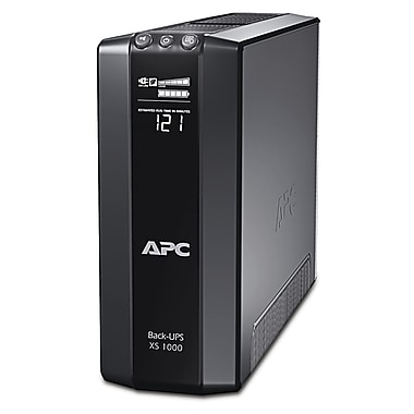 APC® Back-UPS™ Tower and LCD Battery Backup, 1000VA, 8 Outlet (BX1000G-CA)