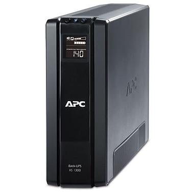 APC® Back-UPS™ Tower and LCD Battery Backup, 1300VA, 10 Outlet (BX1300G-CA)