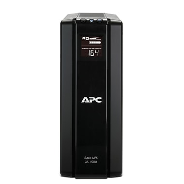 APC® Back-UPS™ Tower and LCD Battery Backup, 1500VA, 10 Outlet (BX1500G-CA)
