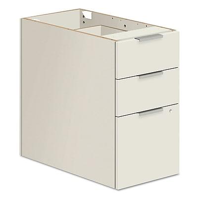 HON® Voi® Box/box/file Support Pedestal, 16w X 24d X 28 1/2h, Brilliant White