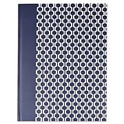 Universal® Casebound Hardcover Notebook, Dark Blue with Hexagon Pattern, 1-Subjects, 10 1/4 x 7 5/8, Each (66351)