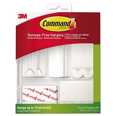 Command Picture Hanging Kit, White/clear, Assorted