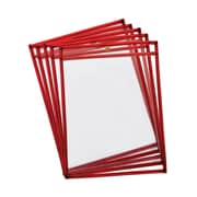 Reusable Dry Erase Pockets, Fluorescent Red